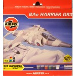 AIRFIX  BAe HARRIER GR3 A92072 Includes 6 Paints, Poly Cement and a Brush