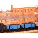 HORNBY RAKE of TWO 7-Plank Blue Coal Wagons With REAL COAL LOAD ADDED