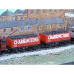 HORNBY Rake of TWO 20 Ton CHARRINGTONS Wagons with REAL COAL LOAD ADDED