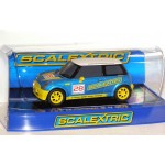 SCALEXTRIC BMW Mini Cooper 'Scalextric No.28' C3073 In Crystal Display Case