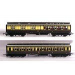HORNBY RAKE of TWO GREAT WESTERN RAILWAY CLERESTORY COACHES  R2980