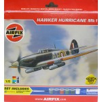 AIRFIX HAWKER HURRICANE Mk 1 A92042 Includes 6 Paints, Poly Cement and a Brush