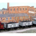 HORNBY Rake of TWO LMS Coal Wagons with Real Coal Load Added