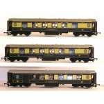 HORNBY RAKE of THREE PULLMAN PARLOUR and BRAKE COACHES 'MINERVA', 'AGATHA' & BRAKE 'CAR No.92'
