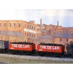HORNBY Rake of TWO 7 Plank Long Base Open TREDEGAR Wagons with Real Coal Load Added