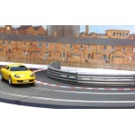 SCALEXTRIC Radius 2 Inner Borders and Barriers Black / Red / White
