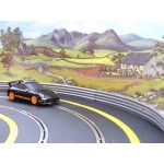 SCALEXTRIC Radius 2 Outer Borders & Barriers Black / Yellow x FOUR