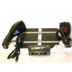 SCALEXTRIC Powerbase Track and Two Dynamic Braking Hand Throttles C8229 + C8230  One Red & One Blue
