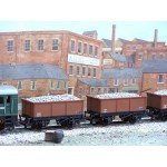 HORNBY Rake of TWO Iron-Sided 26 Ton Open STONE Wagons with with Real Stone/Ballast Load Added